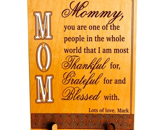 Mom Gift from Son - Gifts for Mothers Day- Personalized Mother's day Gift from Daughter - Plaque - PLM004