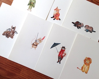 Little Narnia Character Watercolors