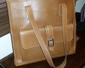 Joan and David Vintage All Leather Purse - Luggage Color - Good Condition!