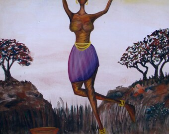 African Art- She leaps