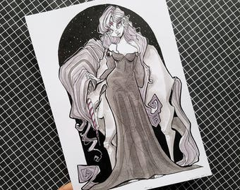 ORIGINAL ART / Lady Amalthea / The Last Unicorn
