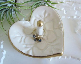 Ceramic heart ring holder, bridesmaid gift, Mother's day gift, Birthday gifts, In Stock
