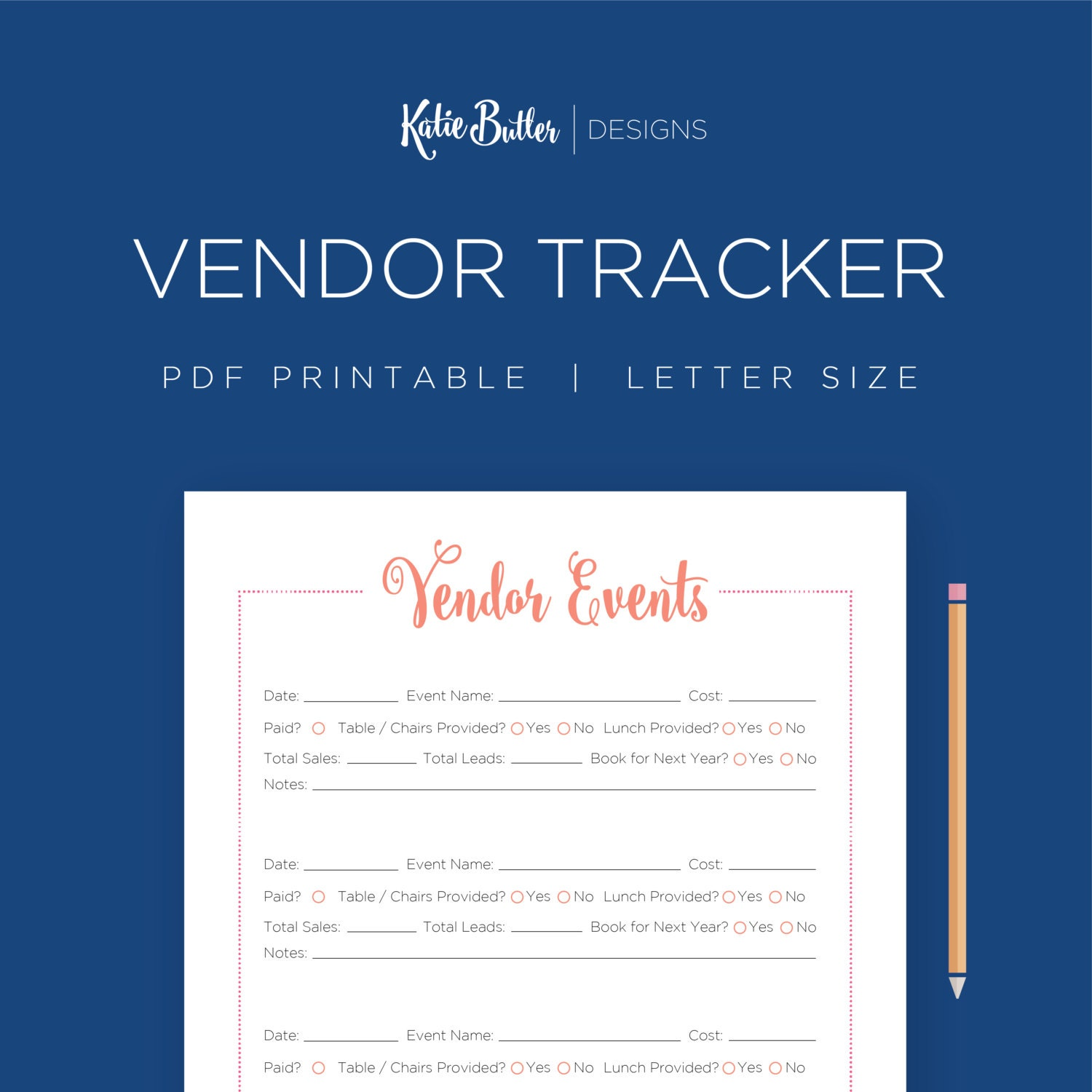 Vendor events tracker editable craft show planner direct for Free craft show listings