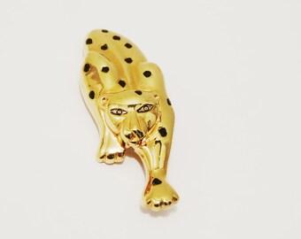 Vintage Gontie Signed Leopard Brooch.