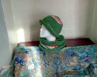Super soft merino hat and neck warmer