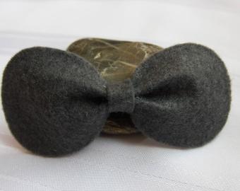 Baby Hair Bow, Hair Bow, Bow Headband, Baby Hair Accessory, Black Hair Bow, Hair Accessories, Felt Hair Bow