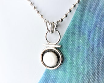 Mother of Pearl Necklace Sterling Silver