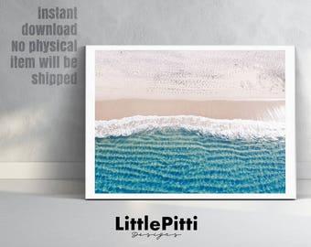 Beach decor, coastal decor, beach print, beach photography, coastal home decor, beach cottage decor, hawaiian decor, sea decor, beach photo