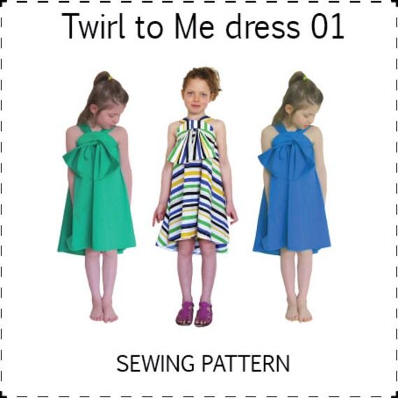 Items similar to Twirl To Me dress // PDF sewing pattern // Girls ...