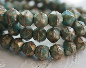 Turquoise Blue, English Cut Beads, Czech Beads, Beads, N2316