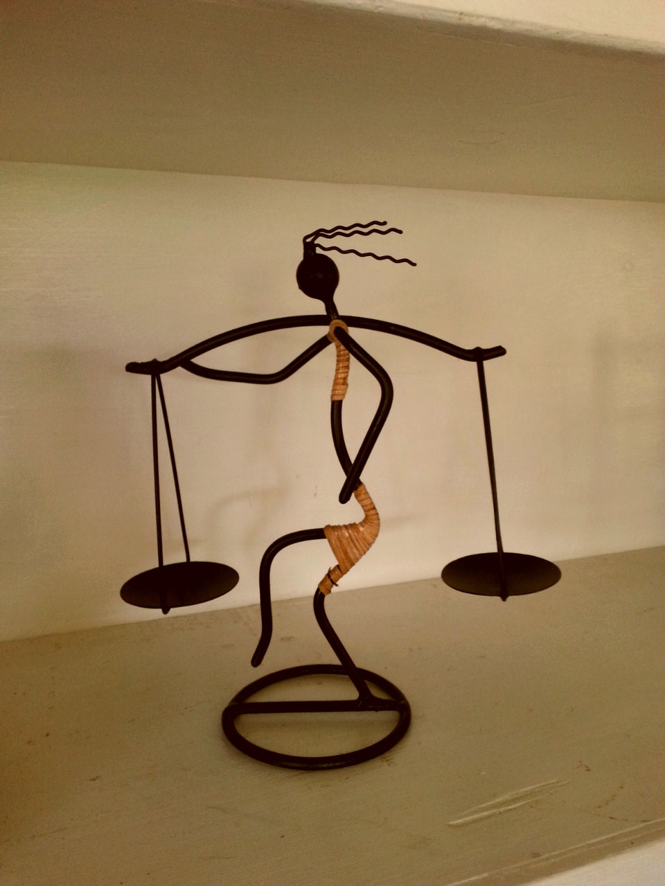 Candle Holder/ Indonesian Art/ Bamboo/ Vintage/ Candle Holder/ Tea ...