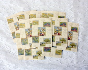 Set of 12 Vintage Bridge Score Cards, Bridge Cards, Vintage Score Keeping