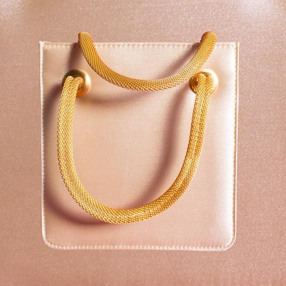 Cream Satin Evening Bag