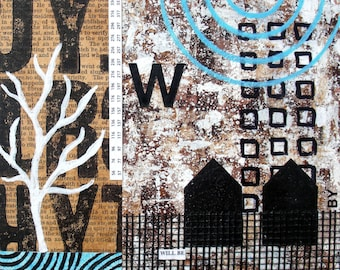 Original Mixed Media Abstract Collage by Kim Hambric - Will Be