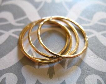 Organic Circle LINKS Eternity Rings Karma Halo Circle / Gold Fill or Sterling, 2-10 pcs, 15 mm, 18 gauge ga / artisan wholesale n150