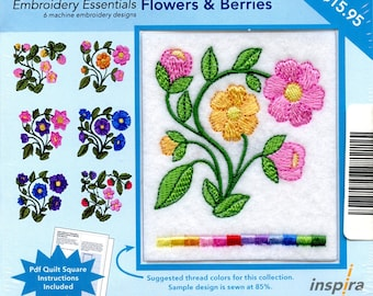 Inspira Embroidery Essentials Flowers & Berries Multi-Format CD
