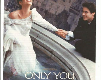 1994 Advertisement Only You Movie Ad Marisa Tomei Robert Downey Jr. Love Story Written In The Stars 90s Romantic Chick Flick Wall Art Decor