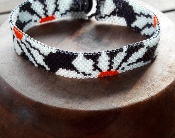 Miyuki delica beads with peyote bracelet weaving 11/0