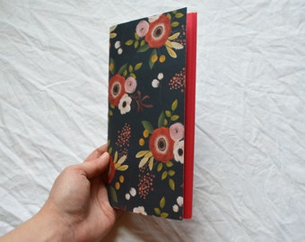 Handmade Travellers Notebook Insert: Red Pages