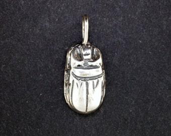 Silver scarab etsy egyptian scarab pendant in sterling silver aloadofball Gallery
