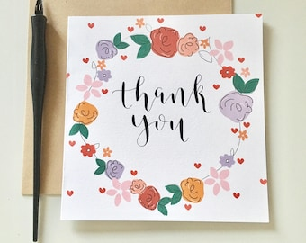 Modern Card - Cards - Greeting Cards - Thank you Cards - Calligraphy Cards - Calligraphy - Handmade Cards - Hand Drawn Cards