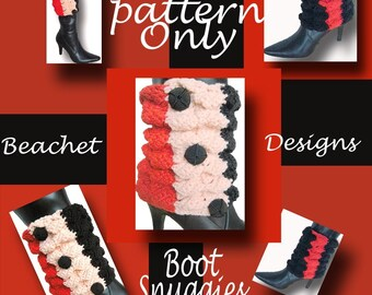 Crochet Boot Covers Pattern PDF