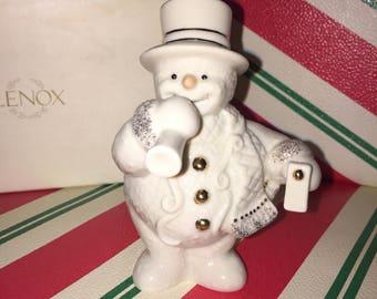 LENOX CELEBRATION SNOWMAN Christmas Decor