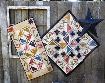 Fan Dance  Pieced & Appliqued Quilt Pattern