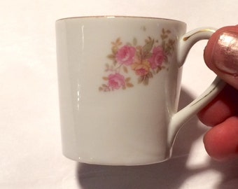 Handpainted nippon cup (or shot glass), flower holder.