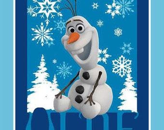 "SALE! Frozen OLAF PANEL...ready to ship...Disney's Olaf fabric panel 36"" x 43"""