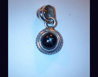 BLACK STAR DIOPSIDE – Sterling Silver Pendant – Made In Maine