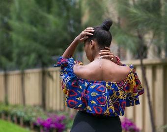 Roho off shoulder African Print Top