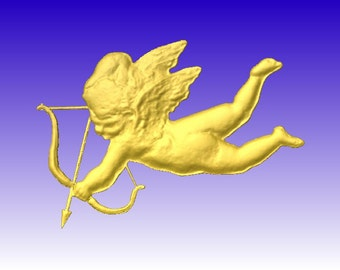 Happy Valentines Day!  Cupid cnc pattern stl 3d cnc router baby cupid pattern only 3d clipart