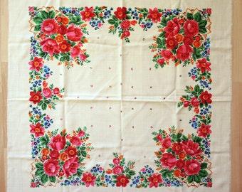 Châle en laine Vintage écharpe en laine avec motif floral #81