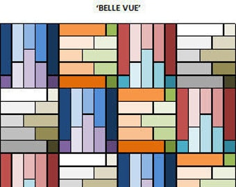 PDF Baby Quilt Pattern...Quick and Easy...Jelly Roll friendly...'BELLE VUE' ... Instant download