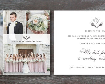 Marketing Flyer Template for Photographers - Wedding Photography Branding Templates - 5x7 Digital Photoshop Design