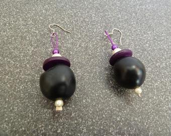 """Earrings """"Black Pearl"""""""