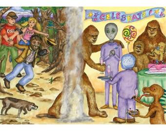 Bigfoot Transcends Mini Print