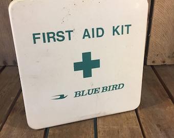 Vintage School Bus First Aid Kit, First Aid Kit, Vintage First Aid Kit