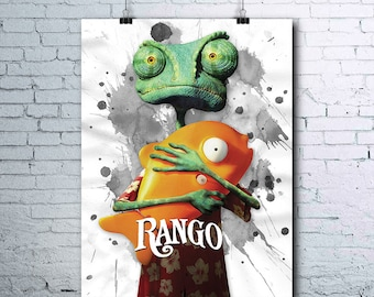 Rango - Art Prints - Birthday Gift - Digital Download - Poster - Print - Printable - Wall Art - Printable Art - Art Print - Digital Download