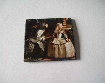 Dollhouse wall Art 2X2 Victorian Wall Art Miniture Child and Mother Princess