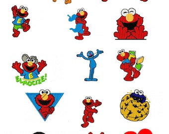 Sesame Street, Mostly Elmo Embroidery Designs - 37 Different Designs