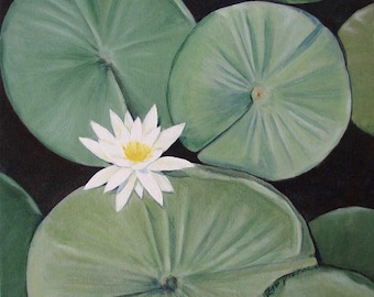 Acrylic Painting Lily Flower