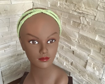 Double summer headband with pearls