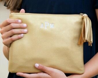 gold metallic clutch, bridesmaids clutch, kendall clutch