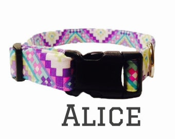 Purple Aztec design