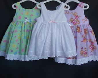 Tie-Back Girls Dress - The Pastel Range