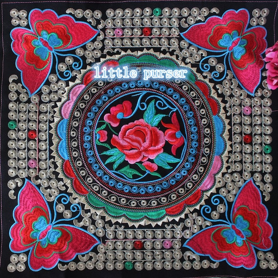 Diy Hand Embroidery Accessories China Hmong Blue Pattern Embroidered