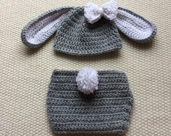 Bunny Baby Set, Baby Bunny Costume, Bunny Baby Clothes, Enchanted Forest, Baby Bunny Bonnet, Girl Bunny Bonnet, Woodland Baby Items