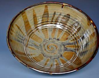 Dark Umber Ceramic Pottery Bowl Serving Bowl Salad Bowl B